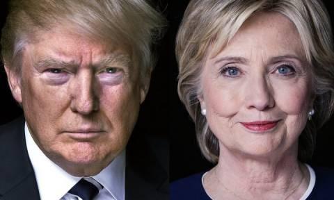 ΗΠΑ: Ο Ντόναλντ Τραμπ σχεδόν εκμηδένισε τη διαφορά των 10 μονάδων από την Χίλαρι Κλίντον