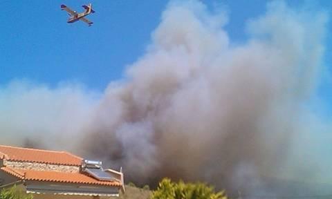 Μεγάλη φωτιά στην Κερατέα (photos)
