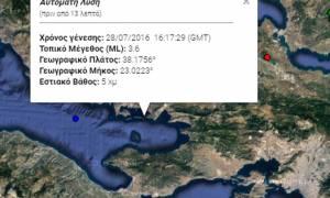 Σεισμός 3,6 στον Κορινθιακό