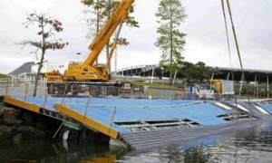 Ολυμπιακοί Αγώνες 2016: Κατέρρευσε εξέδρα ιστιοπλοΐας στο Ρίο (pics)