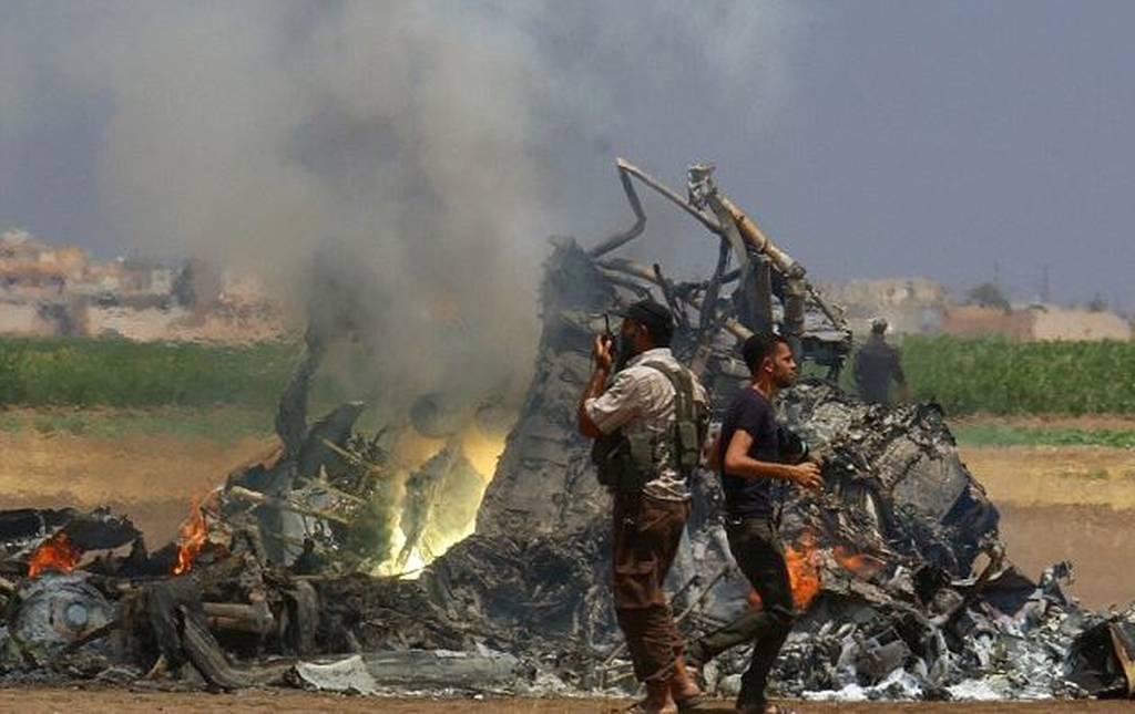 Κατάρριψη ρωσικού ελικοπτέρου στη Συρία: Νεκρά και τα πέντε μέλη του πληρώματος (pics)