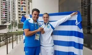 Ρίο 2016: Έτσι υποδέχθηκαν την «χάλκινη» Κορακάκη στο Ολυμπιακό Χωριό!