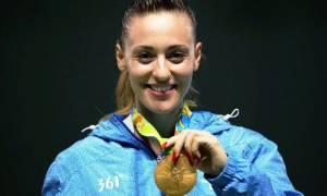Ολυμπιακοί Αγώνες 2016: Η στιγμή της απονομής του χρυσού μεταλλίου στην Άννα Κορακάκη (vid)