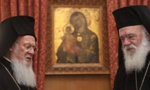 Επιστολή συμπαράστασης του Οικ.Πατριάρχη στον Αρχιεπίσκοπο Ιερώνυμο