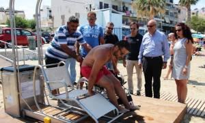 Χανιά: Σύστημα πρόσβασης ατόμων με κινητικά προβλήματα στις θάλασσες αποκτά η Νέα Χώρα