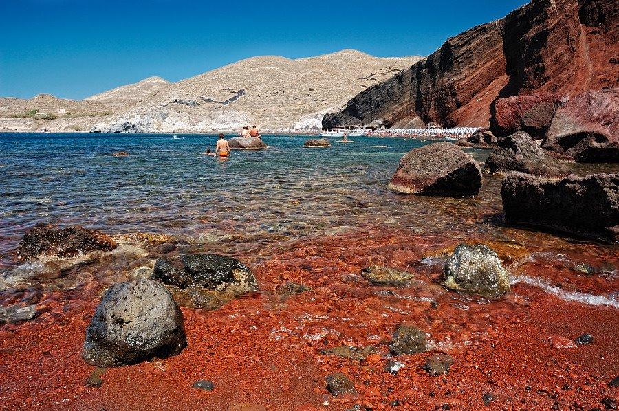 κοκκινη παραλία