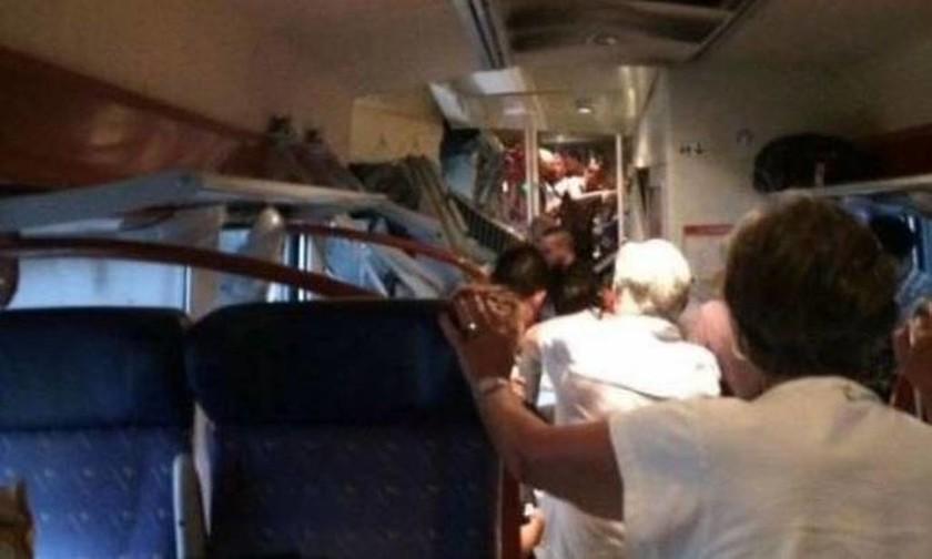 Σιδηροδρομικό ατύχημα στη Γαλλία - Τουλάχιστον 60 τραυματίες, οι 10 σοβαρά (pics)