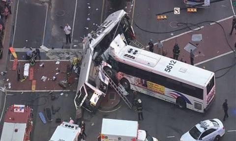 ΗΠΑ: Σφοδρή σύγκρουση λεωφορείων στο Νιου Τζέρσεϊ - Ένας νεκρός (pics+vid)