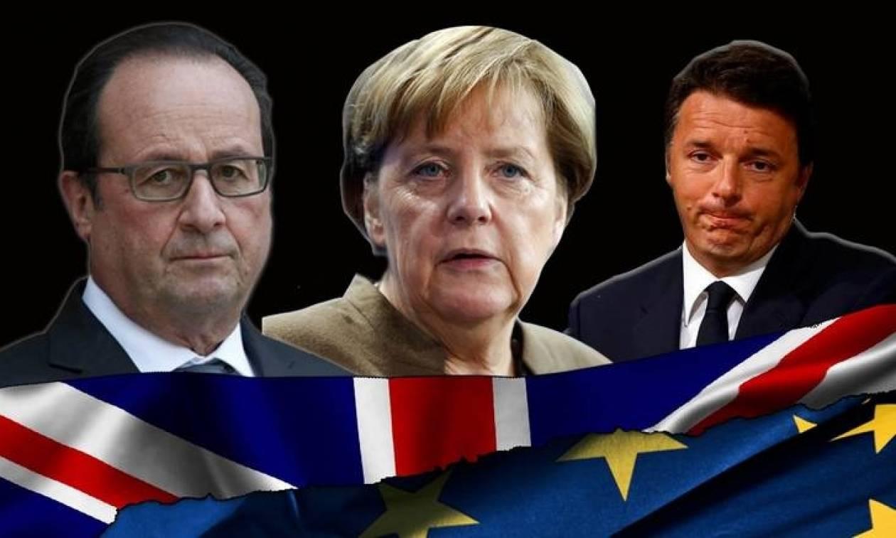 Συνάντηση Μέρκελ, Ολάντ, Ρέντσι για τη μετά Brexit εποχή