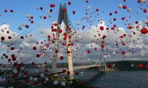 Τουρκία: Εγκαίνια για την τρίτη γέφυρα στα στενά του Βοσπόρου