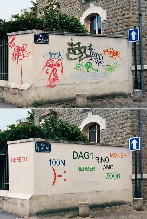 Αυτός ο «σπασίκλας» ξαναζωγραφίζει τα άσχημα γκράφιτι για να τα κάνει πιο ευανάγνωστα (Pics)