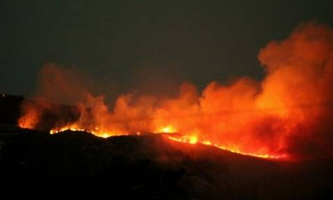 Ολονύχτια μάχη με τις φλόγες στην Ζάκυνθο: Καίγεται το πευκοδάσος της περιοχής του Κοιλιωμένου