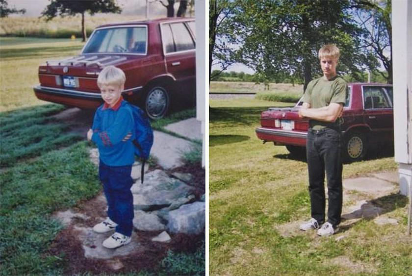 Είκοσι συγκινητικές φωτογραφίες της πρώτης μέρας του σχολείου και της τελευταίας 12 χρόνια μετά