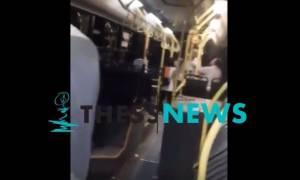 Θεσσαλονίκη: Άγριος καυγάς επιβάτη - ελεγκτή σε λεωφορείο του ΟΑΣΘ (video)