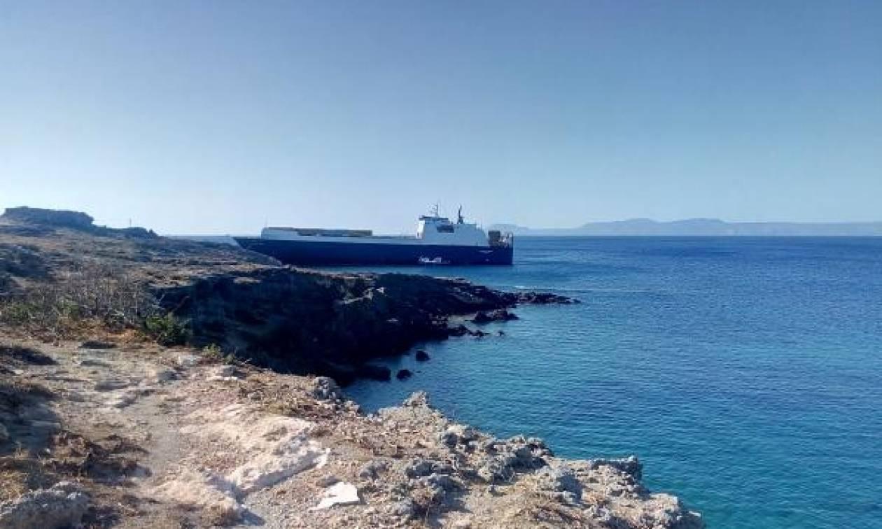Λακωνία: Καράβι βγήκε στη στεριά! (pics)