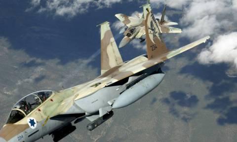 Ισραηλινά μαχητικά βομβάρδισαν θέσεις του στρατού της Συρίας