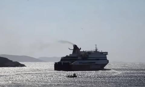 Αμοργός: Απίστευτο βίντεο - Τι έκανε ο καπετάνιος του Superfast και έκλεψε τις εντυπώσεις