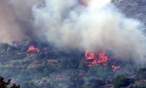 Φωτιές σε εξέλιξη στη Δράμα και τη Νάξο