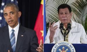 Άγριο βρίσιμο από τον πρόεδρο των Φιλιππίνων στον Ομπάμα - Δείτε πώς τον αποκάλεσε (vid)