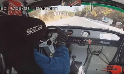 Η 11η ανάβαση του Ομαλού μέσα από το αυτοκίνητο του νικητή (vid)
