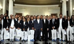 Συνάντηση Τσίπρα με Ολυμπιονίκες: Τι είπε σε Γιαννιώτη, Κορακάκη και πολίστες (photo)