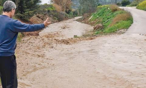 Κακοκαιρία: Αποκλεισμένα τρία χωριά στον δήμο Ευρώτα