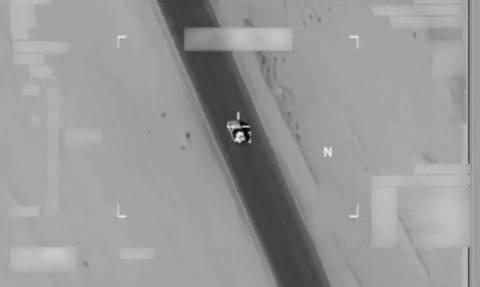 Εντυπωσιακό βίντεο: Αμερικανικό αεροσκάφος διαλύει φορτηγό με τζιχαντιστές