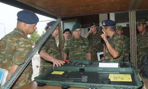 Ο Γενικός Επιθεωρητής Στρατού στο  Κέντρο Εκπαίδευσης Πυροβολικού