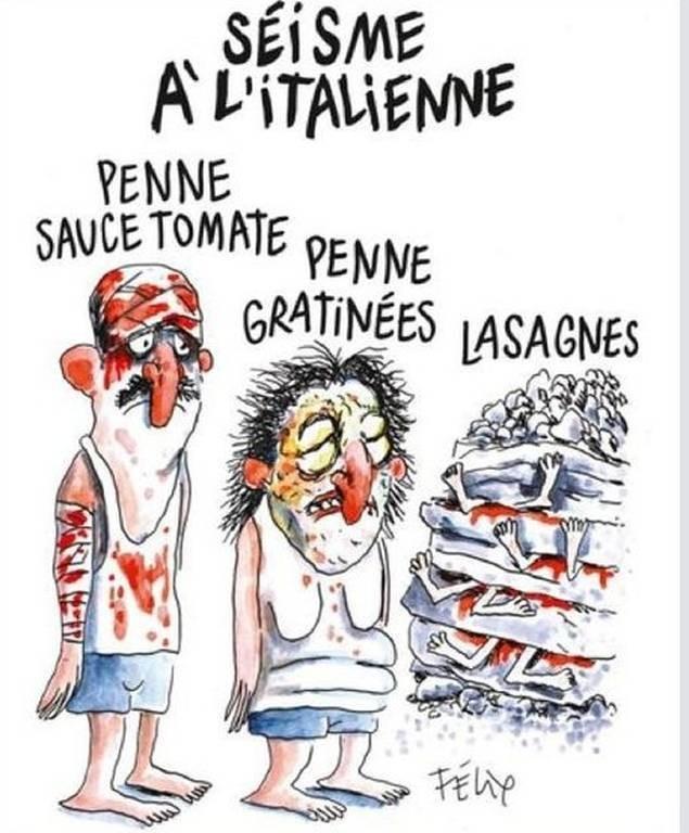 Ιταλία: Ο δήμος του Αματρίτσε μηνύει για δυσφήμιση τη σατιρική εφημερίδα Charlie Hebdo