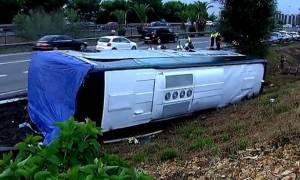 Ισπανία: Ανατροπή τουριστικού λεωφορείου στη Βαρκελώνη – Τουλάχιστον 24 τραυματίες (Pics)