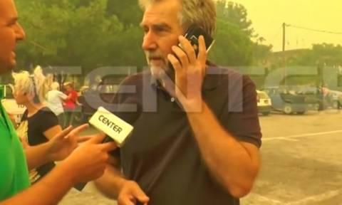 Στο νοσοκομείο ο βουλευτής του ΣΥΡΙΖΑ που ζητούσε βοήθεια για τη φωτιά στη Θάσο