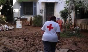 Καλαμάτα: Στο πλευρό των πληγέντων από τις πλημμύρες ο Ερυθρός Σταυρός