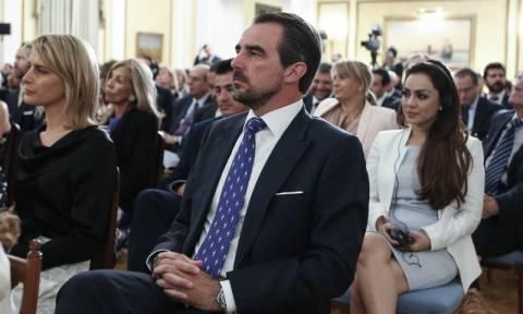Στο Προεδρικό Μέγαρο για πρώτη φορά ο γιος του τέως βασιλιά (pics)
