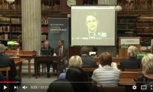 Και ξαφνικά στην οθόνη της Εθνικής Βιβλιοθήκης της Ελλάδoς εμφανίστηκε LIVE ο Έντουαρντ Σνόουντεν