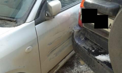 Η λύση στην κρίση: Αυτός ο Ρώσος επισκεύασε τη ζημιά στο αυτοκίνητό του με τον πιο μεγαλοφυή τρόπο