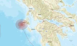 Σεισμός 4,5 Ρίχτερ δυτικά της Κεφαλονιάς