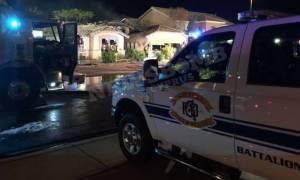 Τρομακτικό ατύχημα: Αεροπλάνο καρφώθηκε σε σπίτι