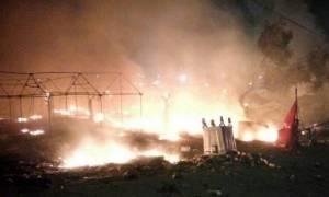 Εκτός ελέγχου η κατάσταση στη Μυτιλήνη – «Πόλεμος» στο hotspot της Μόριας