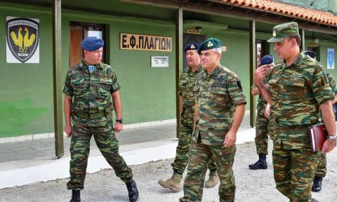 Στρατός Ξηράς: O Γεν. Επιθεωρητής Στρατού σε φυλάκια πεζικού (pics)