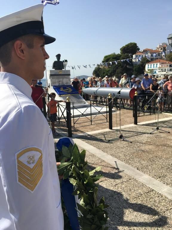 Πολεμικό Ναυτικό: To Υποβρύχιο Πιπίνος στη Σκιάθο για την επέτειο βύθισης του Κατσώνης (pics)