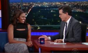 Η Μισέλ μιμείται τον Μπάρακ Ομπάμα και προκαλεί άφθονο γέλιο! (vid)