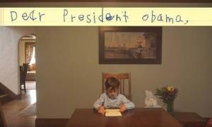 Το συγκινητικό γράμμα 6χρονου στον Ομπάμα για τον μικρό Σύρο πρόσφυγα (vid)