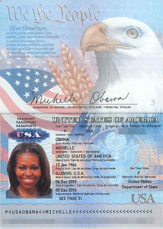 ΗΠΑ: Χάκερς έδωσαν στη δημοσιότητα φωτογραφία του διαβατηρίου της Μισέλ Ομπάμα (pic)