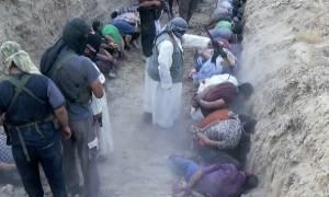 ΣΚΛΗΡΕΣ ΕΙΚΟΝΕΣ: Τζιχαντιστές εκτελούν ομαδικά αιχμαλώτους σε χαντάκι (video)