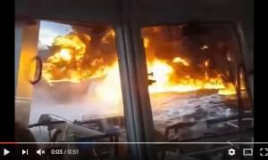 Δεξαμενόπλοιο γεμάτο πετρέλαιο στις φλόγες στον κόλπο του Μεξικού (Vids+Pics)