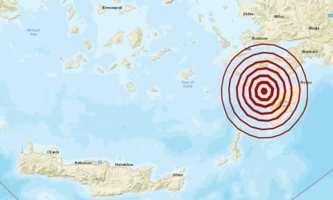 Σεισμός τώρα 5,2 Ρίχτερ δυτικά της Ρόδου - Έτσι τον κατέγραψαν οι σεισμογράφοι (pics)