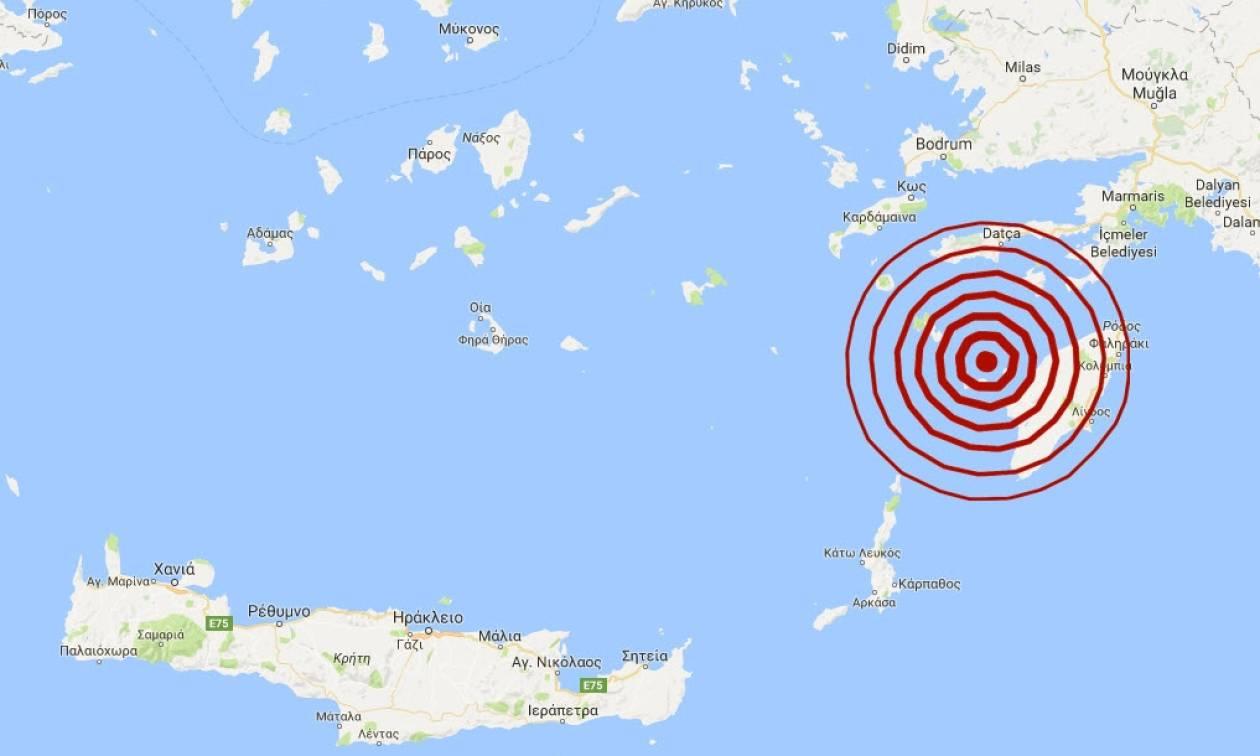 Σεισμός στη Ρόδο: 5,4 Ρίχτερ έδωσε επίσημα το Γεωδυναμικό Ινστιτούτο