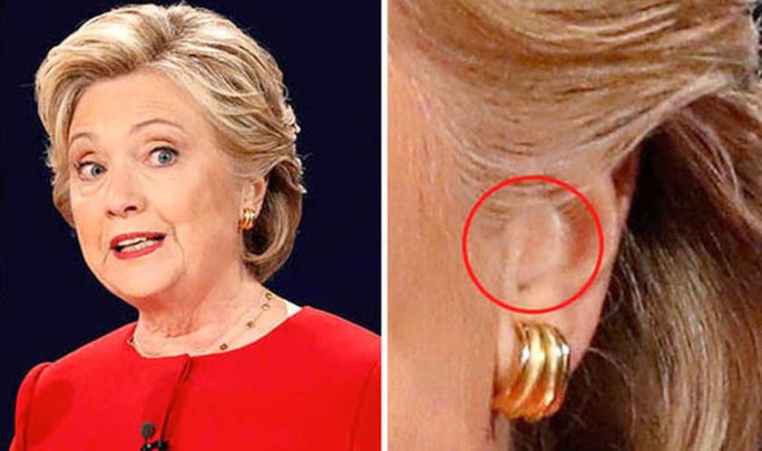 Σάλος στις ΗΠΑ: Φορούσε ακουστικό η Χίλαρι στο ντιμπέιτ; (pics)