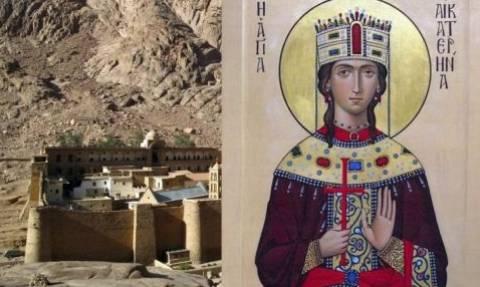 Υποδοχή ιερού λειψάνου Αγ. Αικατερίνης από το Όρος Σινά
