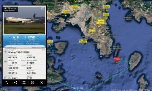 Συναγερμός σε πτήση της United Airlines προς Νέα Υόρκη - Επέστρεψε εσπευσμένα στην Αθήνα (Pics)
